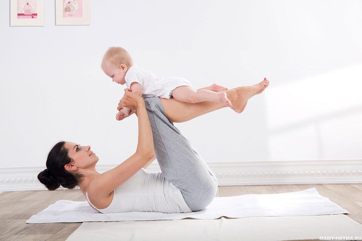 Спорт с малышом на руках