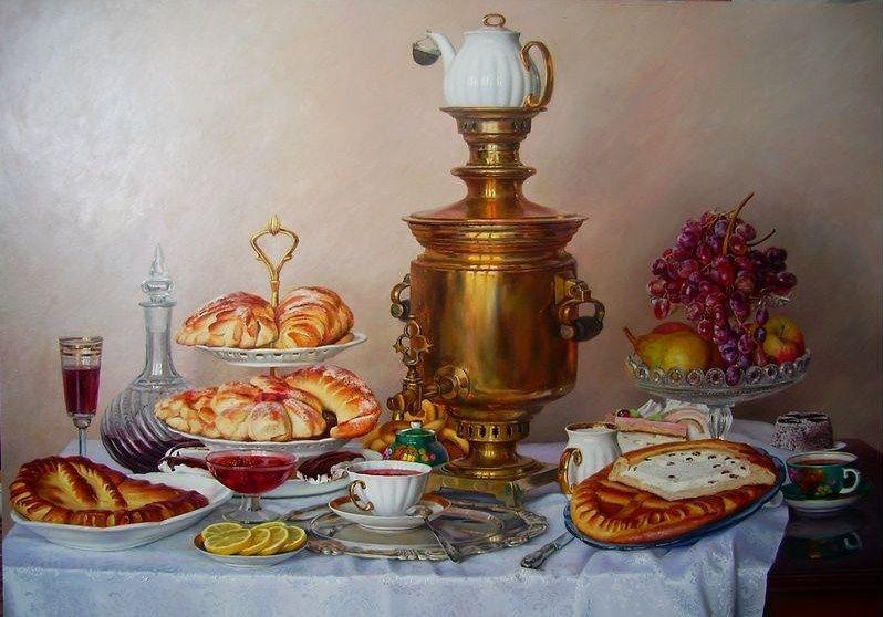 Купеческий обед у Eлисеевых
