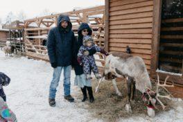 Семейный Мамаход на ранчо к оленям